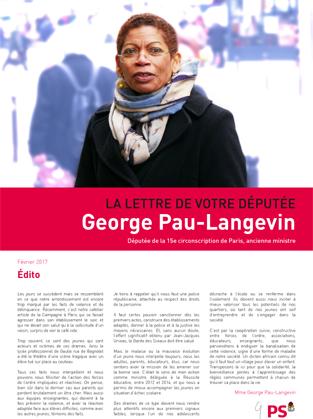 La Lettre de votre Députée George Pau-Langevin